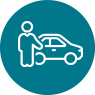 car and person icon
