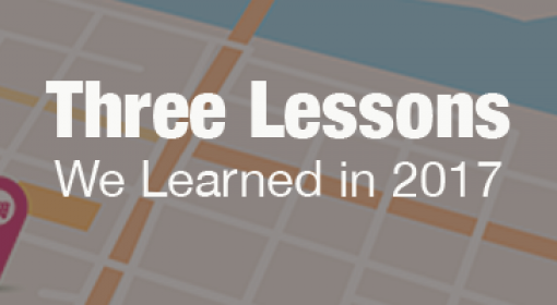 Three Lessons We Learned in 2017