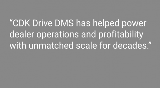"CDK Drive Dealer Management System Receives ""Top Rated"" DrivingSales Dealer Satisfaction Award for 2020"
