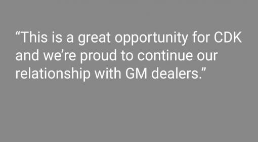 Media Center CDK Global Earns Digital Marketing Spot with GM, Serving Dealers for 15 Consecutive Years